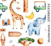 africa watercolor seamless... | Shutterstock . vector #1059891914