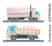 road cargo transportation ...   Shutterstock .eps vector #1059898640