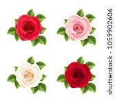vector set of red  pink and... | Shutterstock .eps vector #1059902606