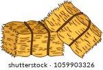 bales of hay   | Shutterstock .eps vector #1059903326