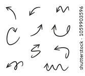 doodle arrows set | Shutterstock .eps vector #1059903596