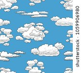 seamless background of clouds... | Shutterstock .eps vector #1059906980