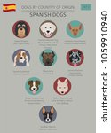 dogs by country of origin.... | Shutterstock .eps vector #1059910940
