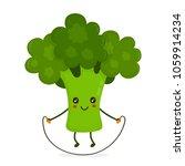 cute happy smiling broccoli... | Shutterstock .eps vector #1059914234