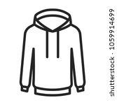 sweatshirt icon vector | Shutterstock .eps vector #1059914699