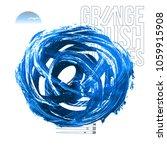 blue brush stroke and texture.... | Shutterstock .eps vector #1059915908