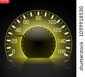 car speedometer  luminous... | Shutterstock .eps vector #1059918530
