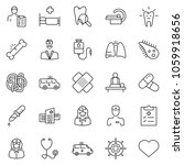 thin line icon set   massage... | Shutterstock .eps vector #1059918656