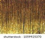 gold foil curtain   Shutterstock . vector #1059925370
