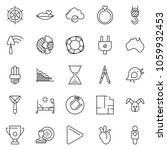 thin line icon set   tie vector ... | Shutterstock .eps vector #1059932453