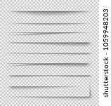 transparent realistic paper... | Shutterstock .eps vector #1059948203