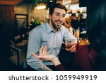 an opposite picture of guy... | Shutterstock . vector #1059949919