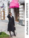 fashion stylish beautiful woman ... | Shutterstock . vector #1059953570
