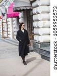 fashion stylish beautiful woman ... | Shutterstock . vector #1059953573