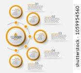 vector abstract 3d paper... | Shutterstock .eps vector #1059954560