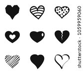small heart icons set. simple... | Shutterstock . vector #1059959060