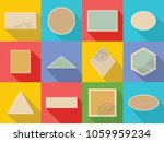 postage stamp icons set. flat... | Shutterstock . vector #1059959234