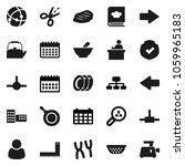 flat vector icon set   plates...