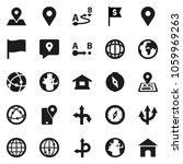 flat vector icon set   compass... | Shutterstock .eps vector #1059969263