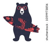 bear surfer vector illustration ... | Shutterstock .eps vector #1059973856
