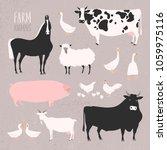vector illustration of stylized ...   Shutterstock .eps vector #1059975116