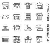 flat vector icon set   store... | Shutterstock .eps vector #1059975170