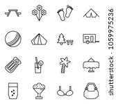 flat vector icon set   picnic... | Shutterstock .eps vector #1059975236