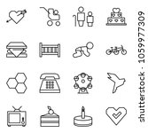 flat vector icon set   love... | Shutterstock .eps vector #1059977309