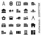 flat vector icon set   school... | Shutterstock .eps vector #1059977789