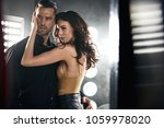 closeup portrait of a sensual... | Shutterstock . vector #1059978020