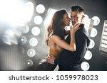 closeup portrait of a sensual... | Shutterstock . vector #1059978023