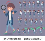 a set of women with digital... | Shutterstock .eps vector #1059980060