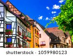 colorful traditional villages... | Shutterstock . vector #1059980123