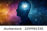 the universe within. silhouette ... | Shutterstock . vector #1059981530