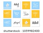 beautiful summer poster with... | Shutterstock . vector #1059982400