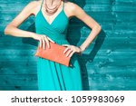 woman posing in dress  wearing... | Shutterstock . vector #1059983069