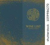 wine list template. vintage...   Shutterstock .eps vector #1059986270