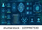 biometric identification or... | Shutterstock .eps vector #1059987530