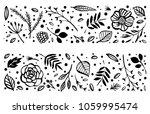 flower frame template. floral... | Shutterstock .eps vector #1059995474