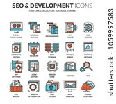 seo and app development. search ... | Shutterstock .eps vector #1059997583