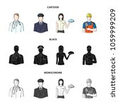 the doctor  the pilot  the...   Shutterstock .eps vector #1059999209