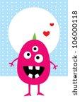 monster message | Shutterstock .eps vector #106000118