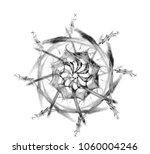 digital fractal art. computer... | Shutterstock .eps vector #1060004246