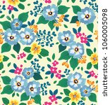 cute floral pattern beautiful... | Shutterstock .eps vector #1060005098