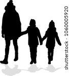 family silhouettes . | Shutterstock .eps vector #1060005920