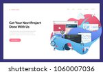 creative website template... | Shutterstock .eps vector #1060007036