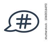 hashtag speech bubble icon on... | Shutterstock .eps vector #1060016693