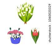 a bouquet of fresh flowers...   Shutterstock .eps vector #1060020329