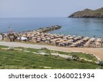 Small photo of PANORMO, CRETE, GREECE - MAY 13, 2017: 5 Star all-inclusive Hotel Club Marine Palace (375 rooms, bungalows, studios & suites). Club Marine Palace - complex built like a typical Cretan village. Beach.