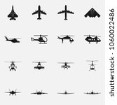 set of military aircraft flat... | Shutterstock .eps vector #1060022486